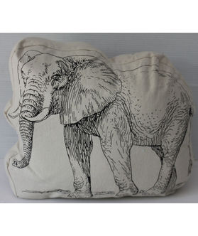 Fun Club Filled Elephant Shape Pillow (Pack of 1)