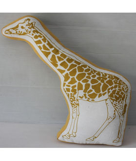 Fun Club Filled  Giraffe Shape Pillow (Pack of 1)