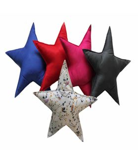 Fun Club Filled Red Star Pillow (Pack of 1)
