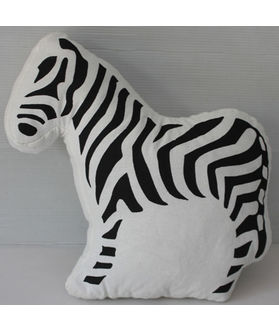 Fun Club Filled  Zebra Shape Pillow (Pack of 1)