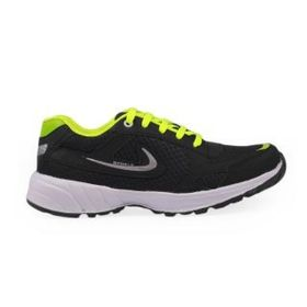 Stylos Mens Black Sports Shoes