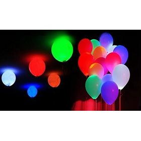 Flashing Disco Light Led Balloons for Parties- 50 Pcs