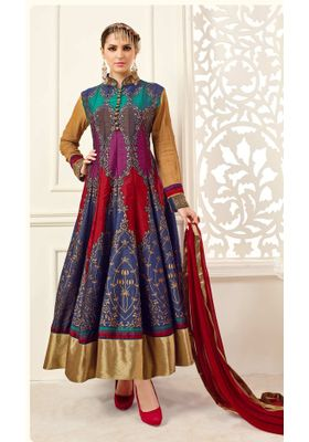 Dazzling Multi Color Anarkali Suit