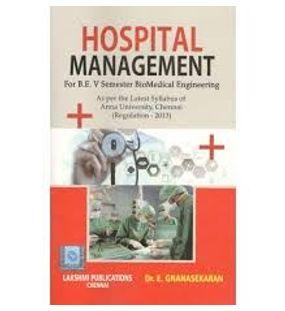 Hospital management   E. Gnanasekaran