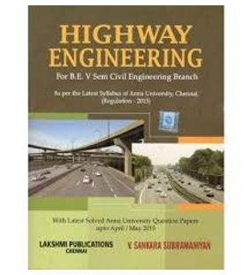 Highway Engineering | Dr. V. SankaraSubramanian