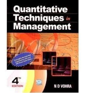 Quantitative Techniques in Management | N D Vohra