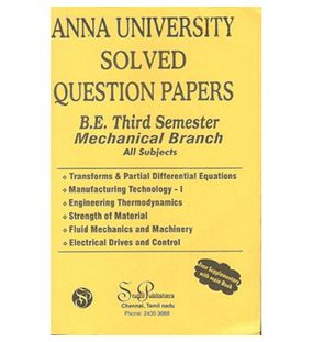 Anna University Solved Question Papers - Mechnical 3rd Sem