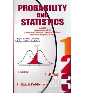 Probability and Statistics | G Balaji