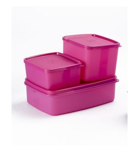 SIGNORAWARE 3 PC. MINI FRIDGE SET-PINK