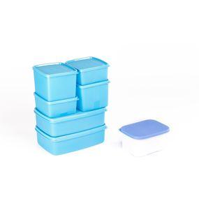 SIGNORAWARE 7 PC. COMPLETE FRIDGE SET-BLUE