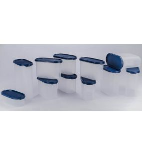 SIGNORAWARE 11 PC.STACKABLE MODULAR OVAL SET-BLUE