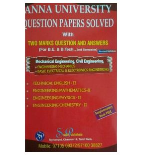 Anna University Solved Question Papers - Civil 2nd Sem