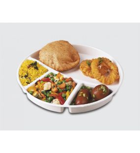 SERVING THALI ROUND ( 1 PC.)  || SIGNORAWARE - SERVING TABLEWARE