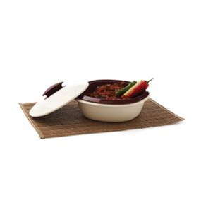 CASSEROLE DOUBLE WALL BIG 1 PC.(1.8LTR.)  || SIGNORAWARE - SERVING TABLEWARE