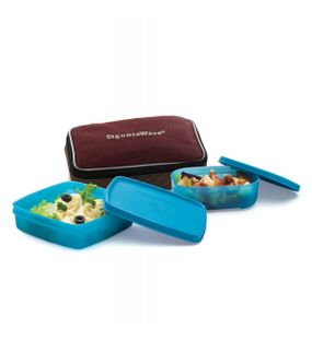 TWIN SMART LUNCH BOX (WITH BAG)  || SIGNORAWARE LUNCH BOX