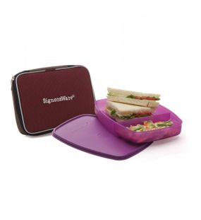 SLIM LUNCH BOX (WITH BAG)  || SIGNORAWARE LUNCH BOX