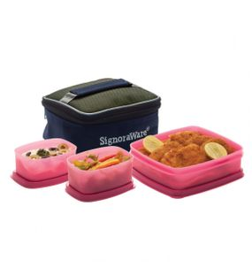 HOT N CUTE LUNCH BOX WITH BAG  || SIGNORAWARE LUNCH BOX