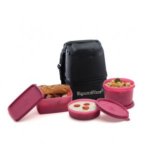 TRIO LUNCH BOX WITH BAG  || SIGNORAWARE LUNCH BOX