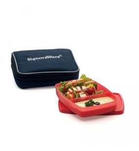 SLIM LUNCH BOX SMALL WITH BAG  || SIGNORAWARE LUNCH BOX