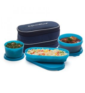DOUBLE DECKER LUNCH WITH BAG     SIGNORAWARE LUNCH BOX