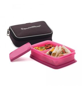 COMPACT LUNCH BOX (SMALL) WITH BAG  || SIGNORAWARE LUNCH BOX