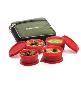 FRESH LUNCH BOX (WITH BAG)  || SIGNORAWARE LUNCH BOX