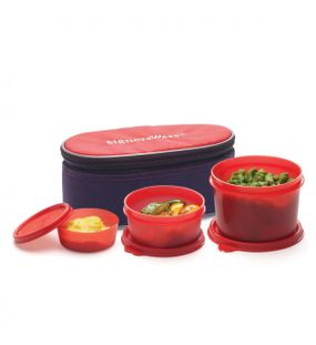 RAINBOW LUNCH BOX WITH BAG  || SIGNORAWARE LUNCH BOX
