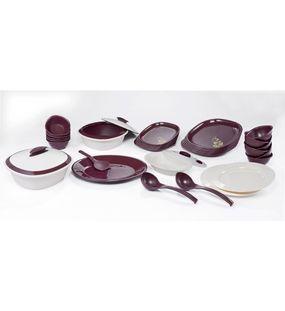 SIGNORAWARE 36 PC. BLOOMING DINNER SET SQUARE  || SIGNORAWARE - DINNER SET RANGE