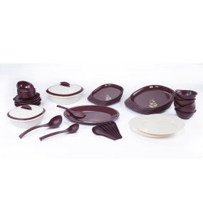 SIGNORAWARE BLOOMING- DINNER SET WITH DOUBLE WALL CASSEROLE (46 PCS.)  || SIGNORAWARE - DINNER SET RANGE