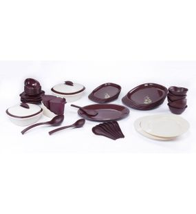 SIGNORAWARE BLOOMING- DINNER SET WITH DOUBLE WALL CASSEROLE (51 PCS.)  || SIGNORAWARE - DINNER SET RANGE