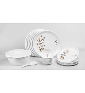 DINNER SET 21 PCS. (ROUND) - DESIGN -3  || SIGNORAWARE - DINNER SET RANGE
