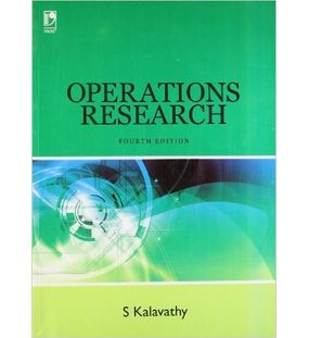 Operations Research | Kalavathy S