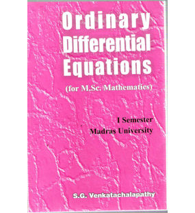 Ordinary Differential Equations (For M.Sc. Mathematics)