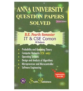 Anna University Solved Question Papers - CSE & IT 4th Sem