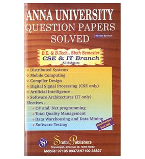 Anna University Solved Question Papers - CSE & IT 6th Sem
