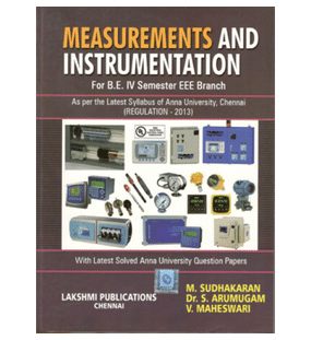 Measurements And Instrumentation | M.Sudhakaran Dr.S. Arumugam V. Maheswari