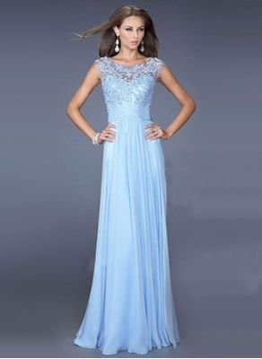 Sky Blue Party Maxi Dress