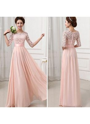 Cute Lace Maxi Dress in Two Colors