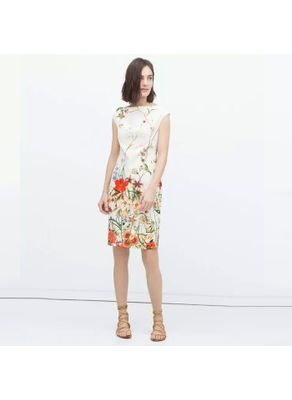 Beautiful Floral Printed Summer Dress