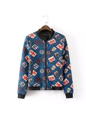 Blue Printed Coat