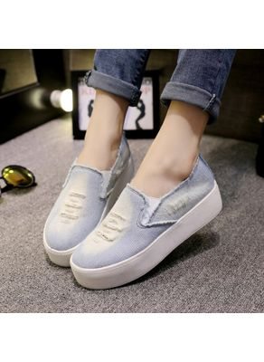 Cute Denim Loafers - KP001222