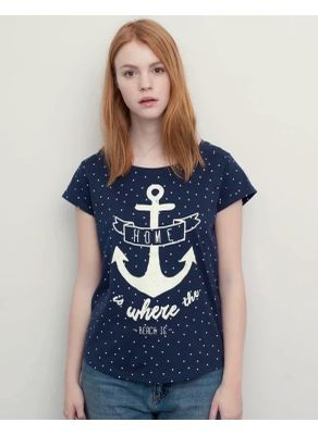 Polka Dot Anchor Desig Tee - KP001458