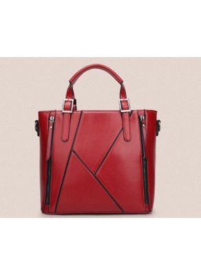 Zipper Design PU Handbag - KP001476