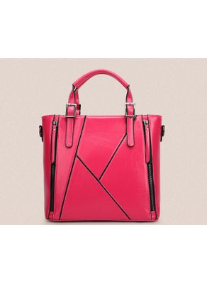 Zipper Design PU Handbag - KP001477