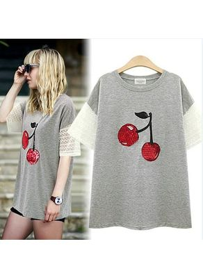 Cherry Printed T-shirt - KP001609