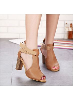 Gladiator Style Block Heels - KP001757