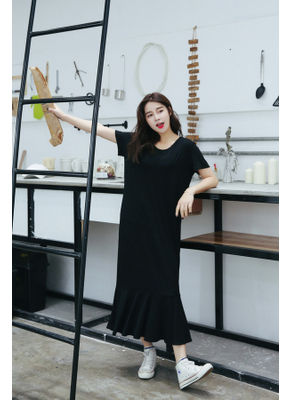 Casual long Mid Calf Dress - KP001880