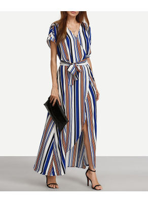Stripe Long Maxi Dress - KP001882