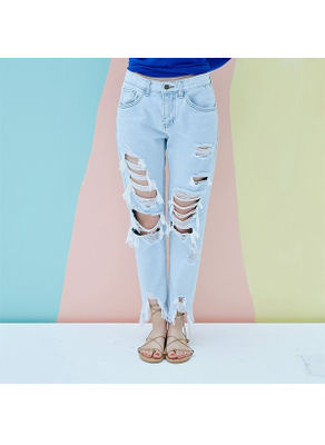 Ripped Denim Jeans - KP002002