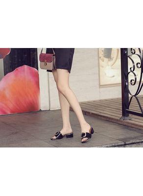 Buckle Design Chunky Heels - KP002053